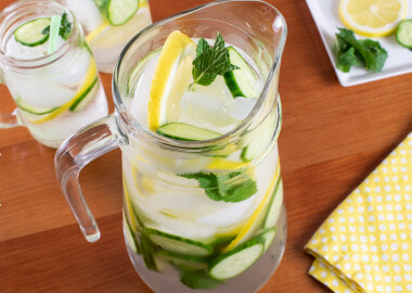 Cucumber, Lemon, and Mint Infused Water