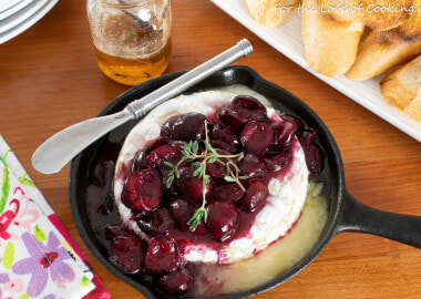Honey Thyme Sweet Cherry Baked Brie