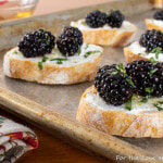 Blackberry Goat Cheese Crostini