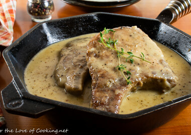 Pork Chops with Peppercorn Sauce
