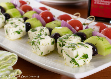 Greek Salad Skewers