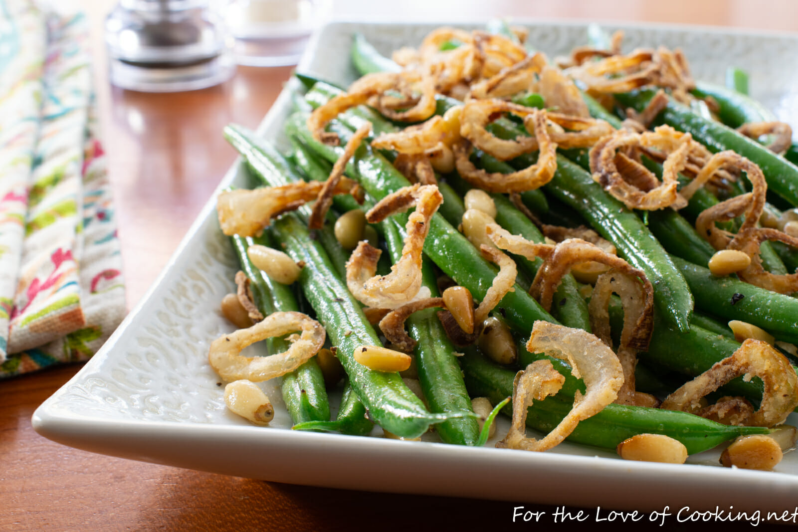 Brown Butter Green Beans with Crispy Shallots and Pine Nuts
