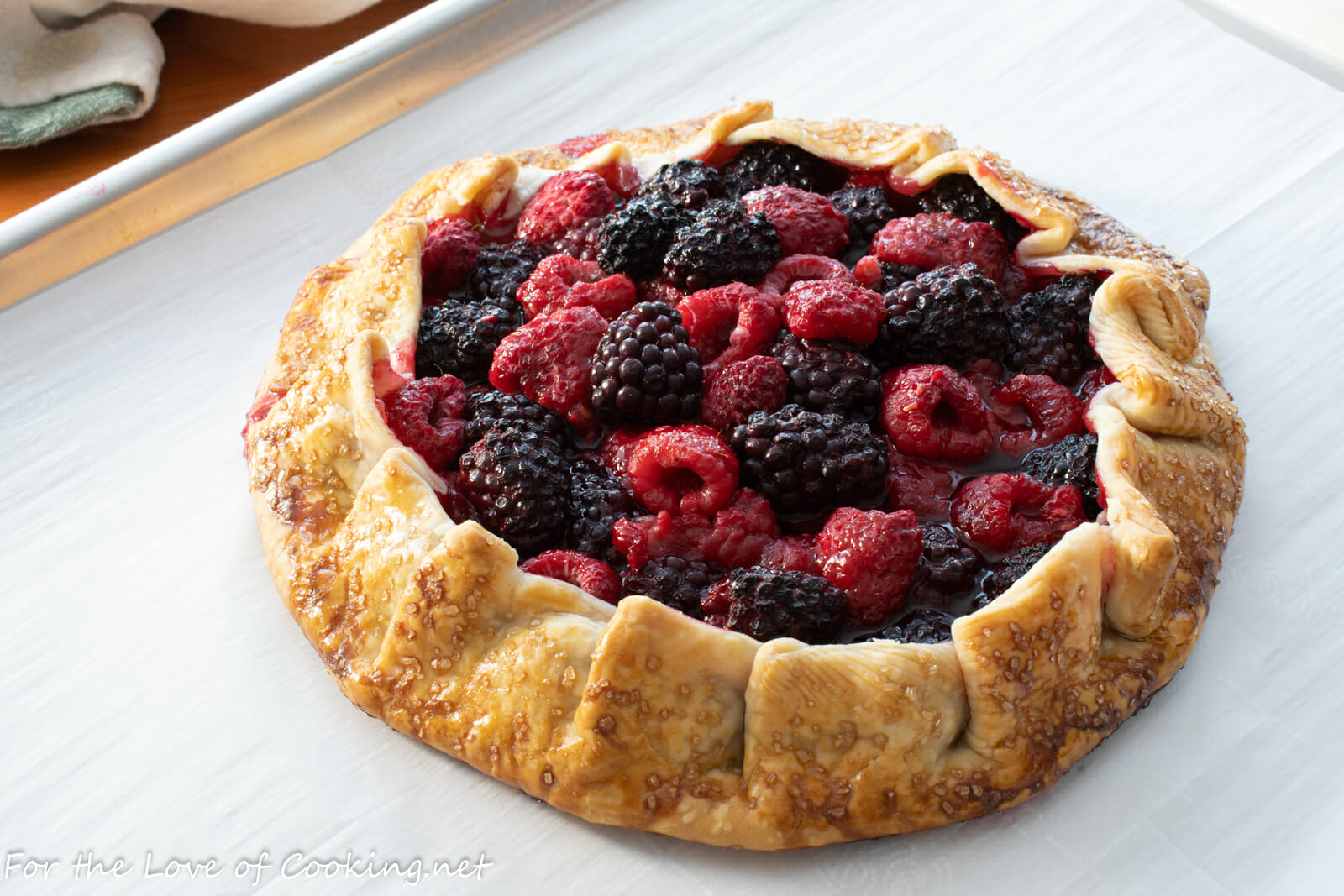 Raspberry and Blackberry Galette with Lemon Whipped Cream