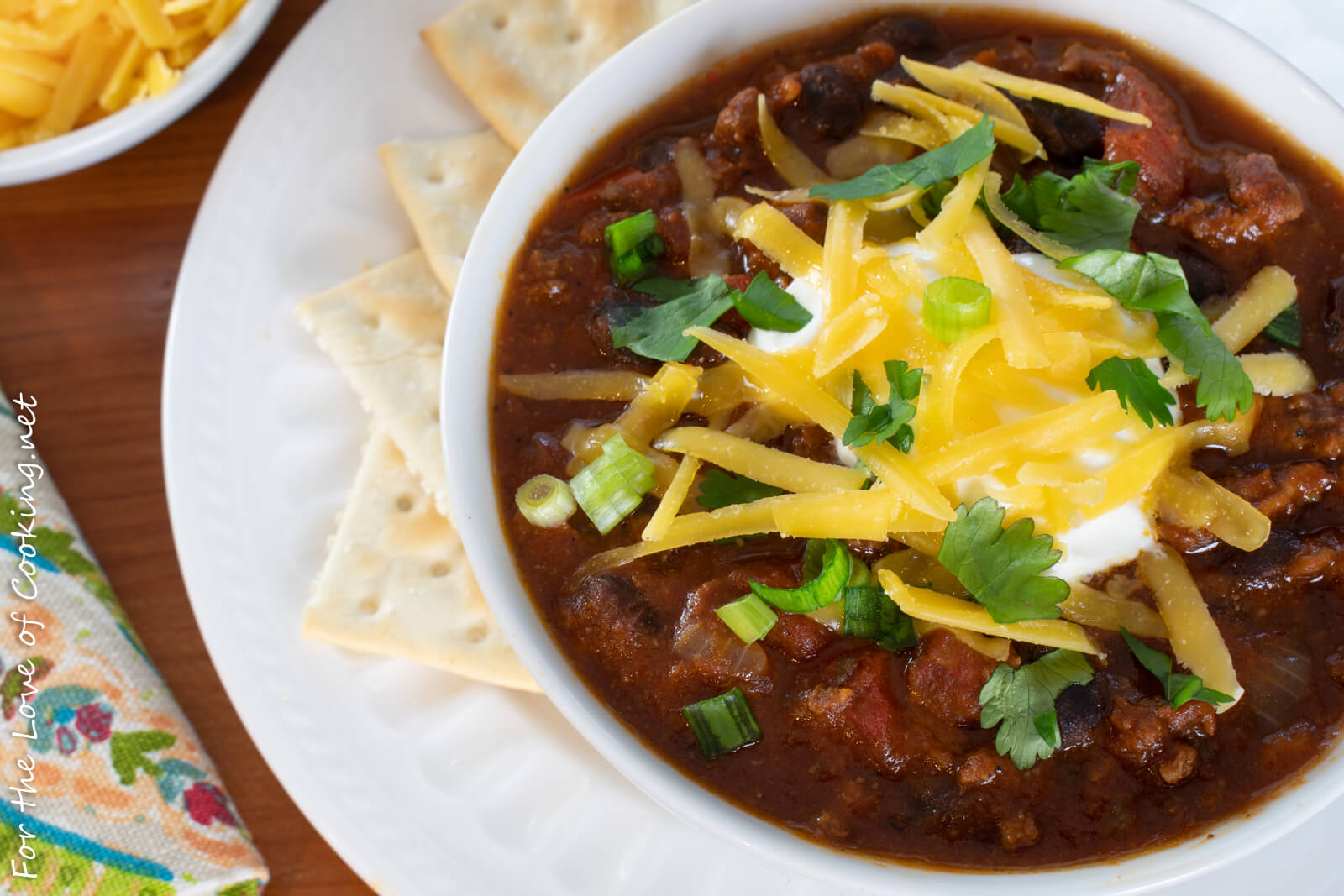 Beef Chili with Bacon and Black Beans