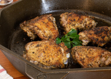 Roasted Greek Chicken Thighs