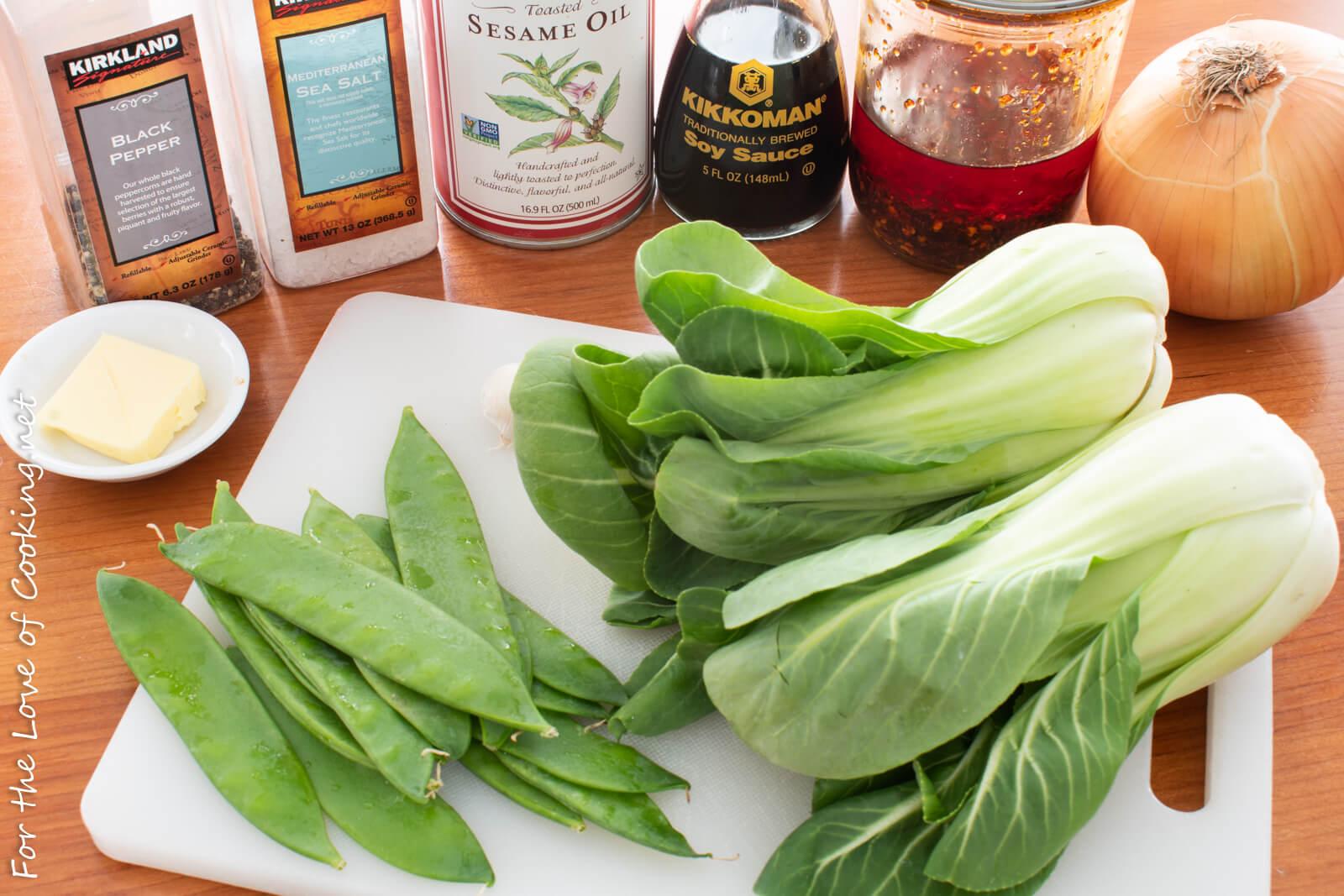 Sautéed Bok Choy with Snow Peas
