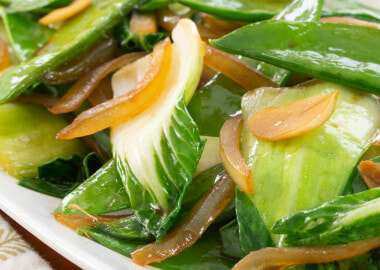 Sautéed Bok Choy with Snow Peas