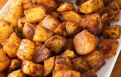Spicy Potatoes with Lemon-Garlic Aioli