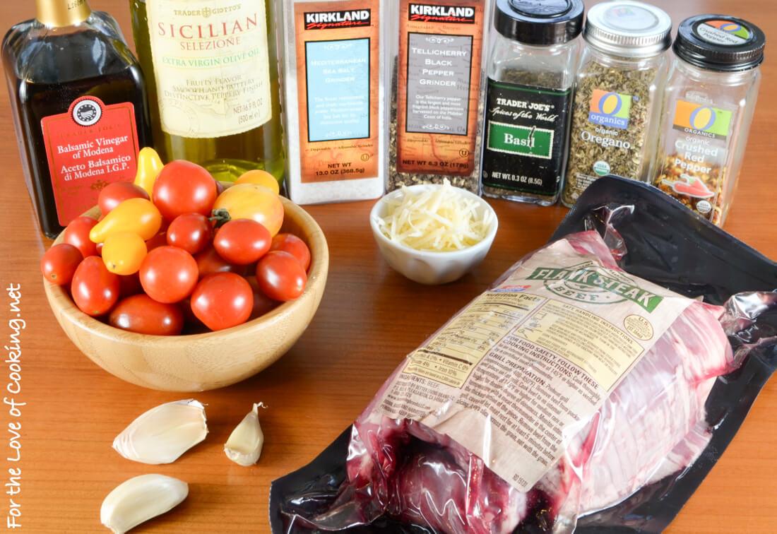 Italian Flank Steak with Balsamic Roasted Tomatoes