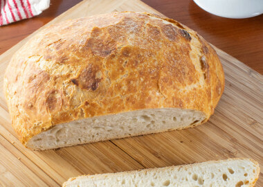 No-Knead Rustic Bread with Roasted Garlic
